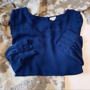 J. Crew Royal Blue Blouse Size Medium